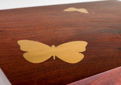 Reclaimed Wood Butterfly Side Table Faisal Malik Functional Art