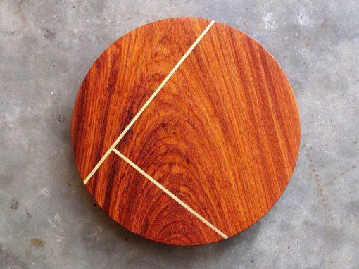 Makha + Brass Line Inlay Round Tray