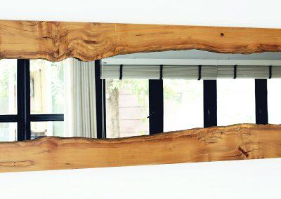 Live Edge River Mirror in Vitex Wood #2 – USD 1,250