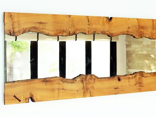 Live Edge River Mirror in Vitex Wood #3 – USD 1,250